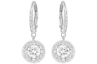 Swarovski Attract Light Pierced Earrings, White, Rhodium plating (1 pair)
