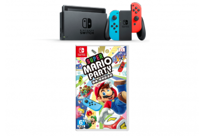Nintendo Switch Bundle Set (Neon Blue/Neon Red) (1pc) (Legitimately-Imported Goods)