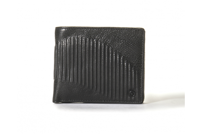 Tough Short Leather Wallet - Black (1pc)