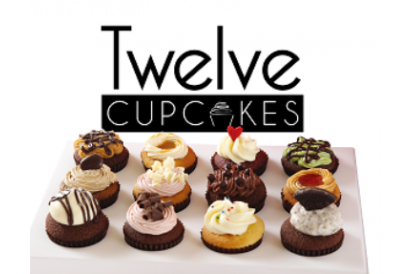 Twelve Cupcakes - 12 pieces of regular flavor mini cupcakes in box set (1 box)