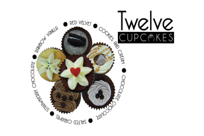 Twelve Cupcakes - 6 pieces of regular flavor mini cupcakes in box set (1 box)