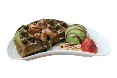 UJI-EN - Evil Waffle serves with Soft Cream or Ice Cream (Dine-in only) (1 pc)