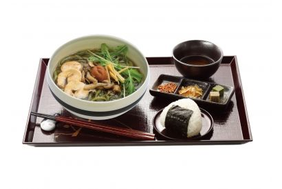 UJI-EN - (Winter Edition) Mixed Japanese Mushroom and Chicken Namachamen Set with Mini Matcha jelly and Onigiri (Dine-in only) (1 set)