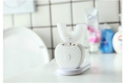 V-White Teeth Whitening & 360 Automatic Toothbrush (White) (1pc)