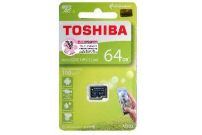TOSHIBA microSD card M203 UHS1 U1 Read 100MB/s 64GB (1 pc)